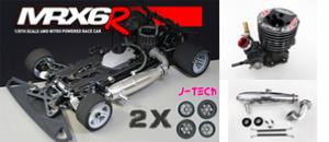 Mugen MRX-6R (version 2018) + 2 trains de pneus J-Tech + Moteur Os 21R03